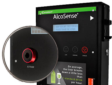 Alcosense Soberpoint 3 Wall Mounted Breathalyser for the workplace and licensed premises.